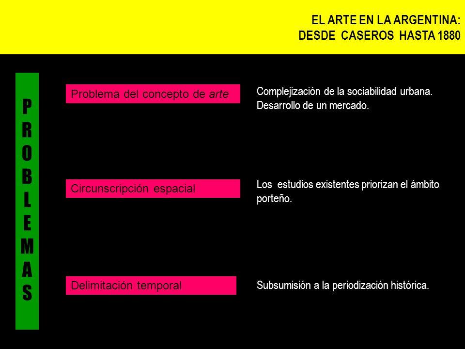 PROBLEMAS EL ARTE EN LA ARGENTINA: DESDE CASEROS HASTA 1880