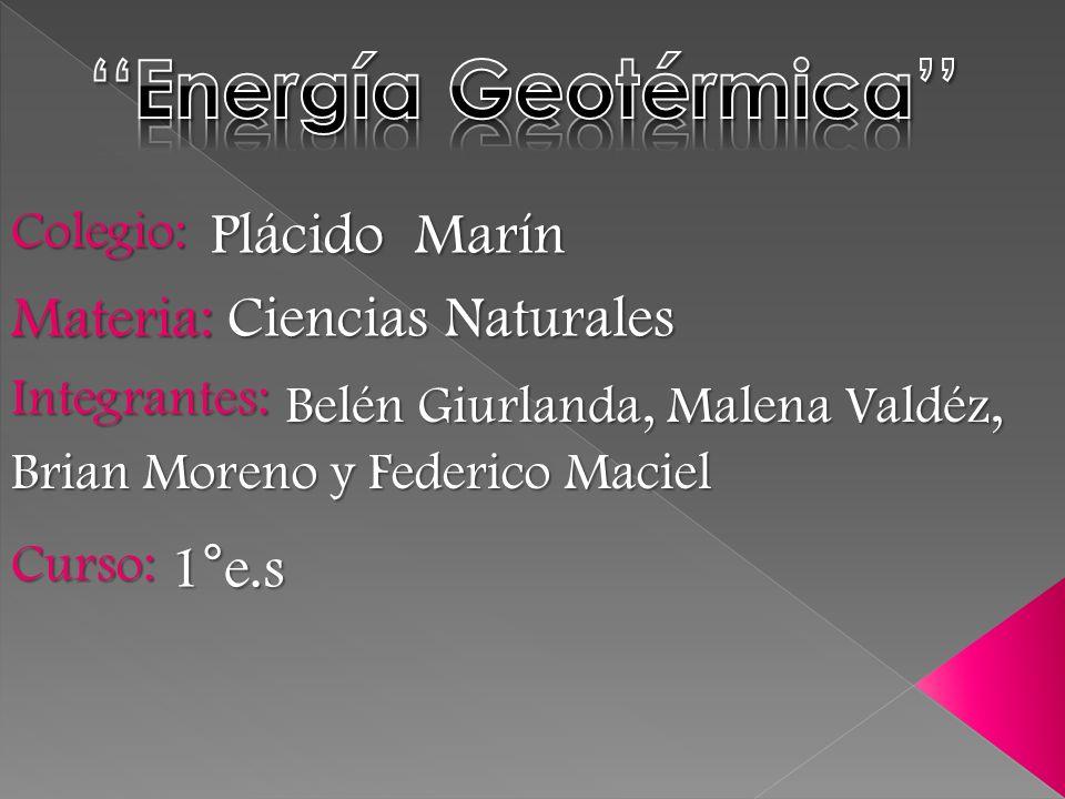 ''Energía Geotérmica''