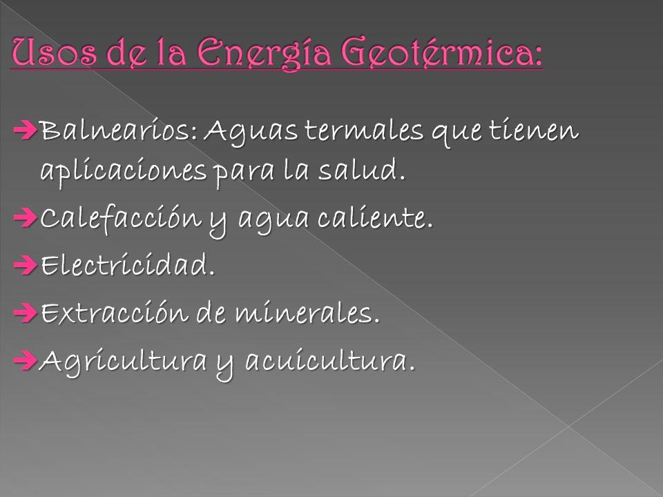 Usos de la Energía Geotérmica: