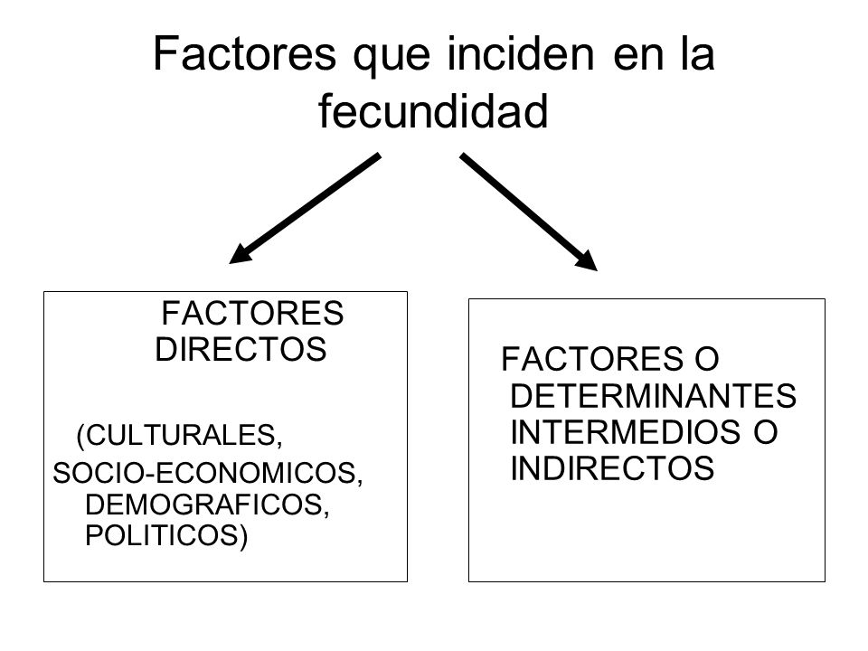 Factores que inciden en la fecundidad