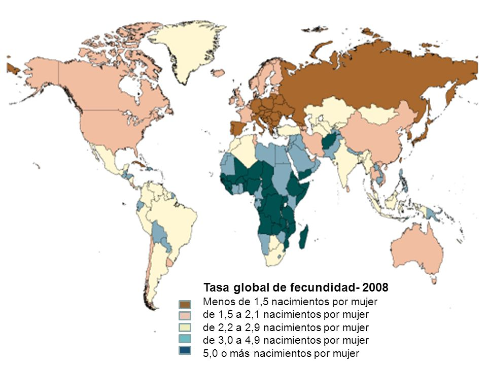Tasa global de fecundidad- 2008