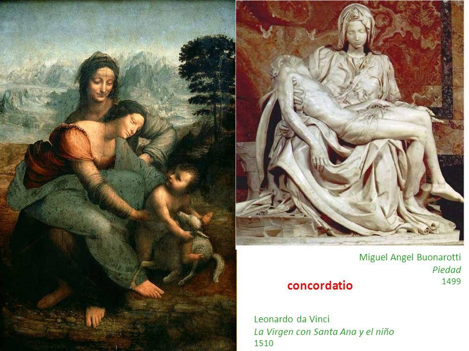 concordatio Miguel Angel Buonarotti Piedad Leonardo da Vinci