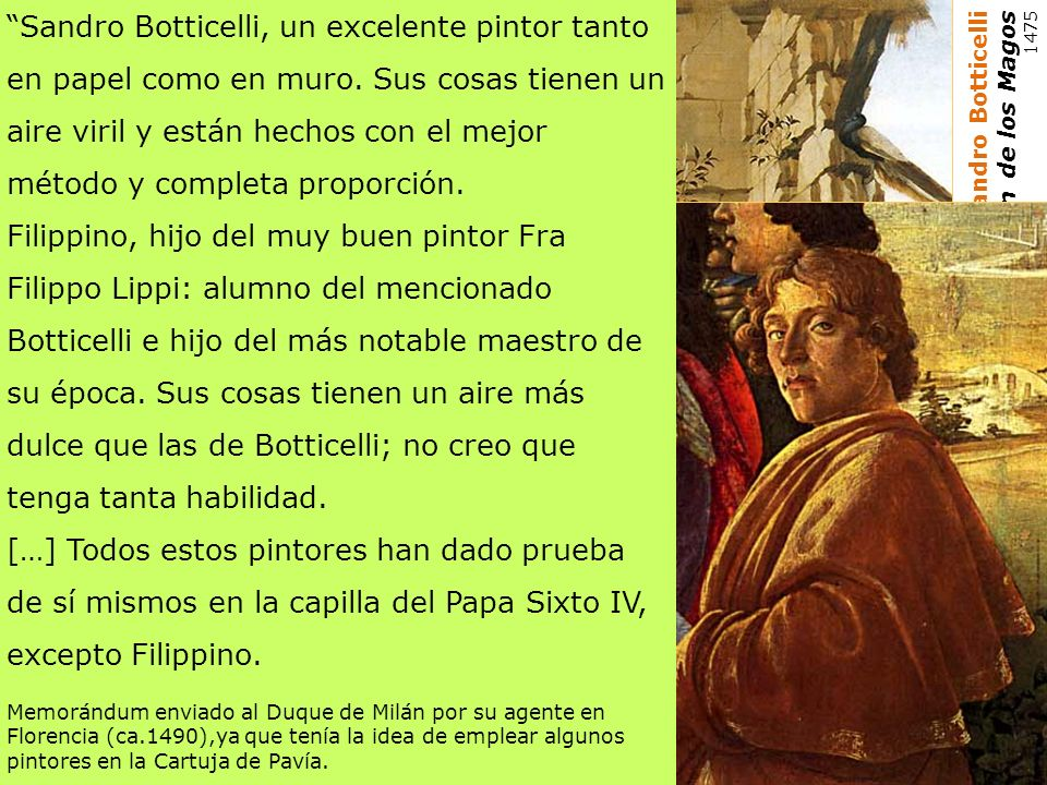 Sandro Botticelli, un excelente pintor tanto en papel como en muro