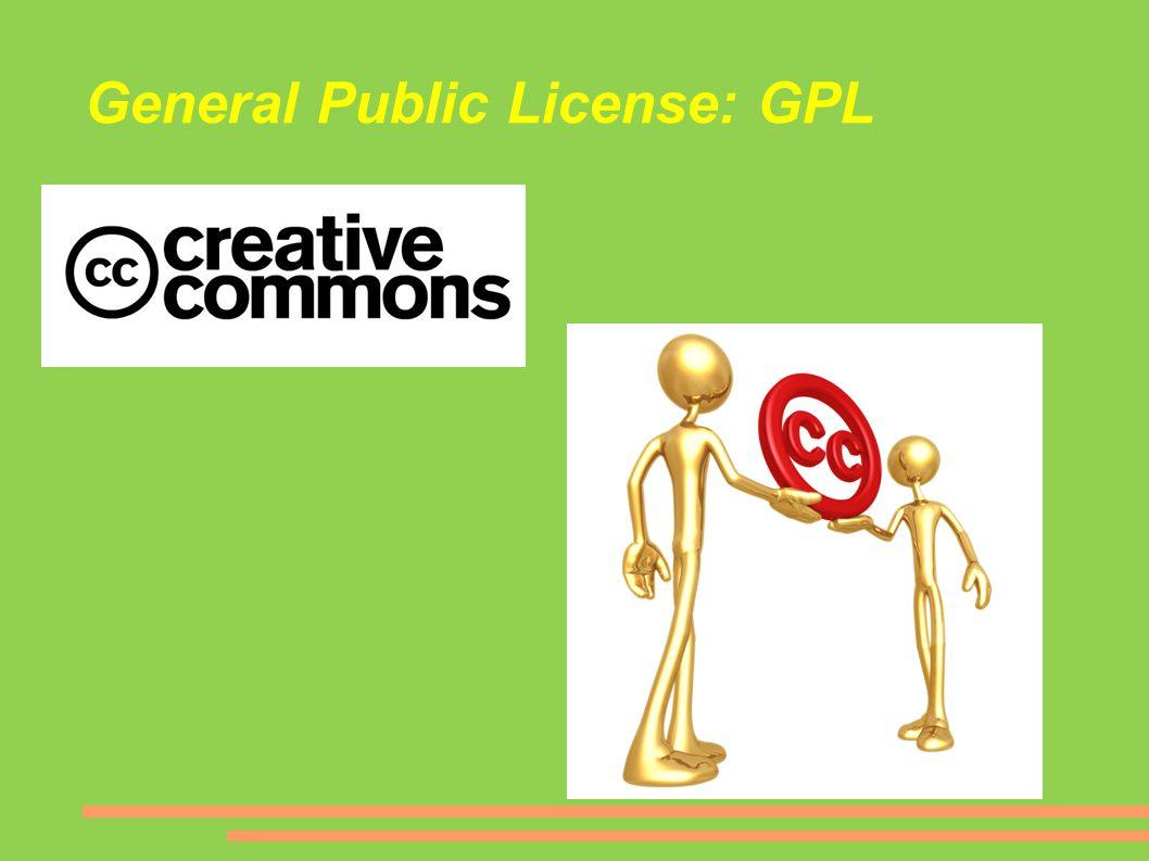 General Public License: GPL