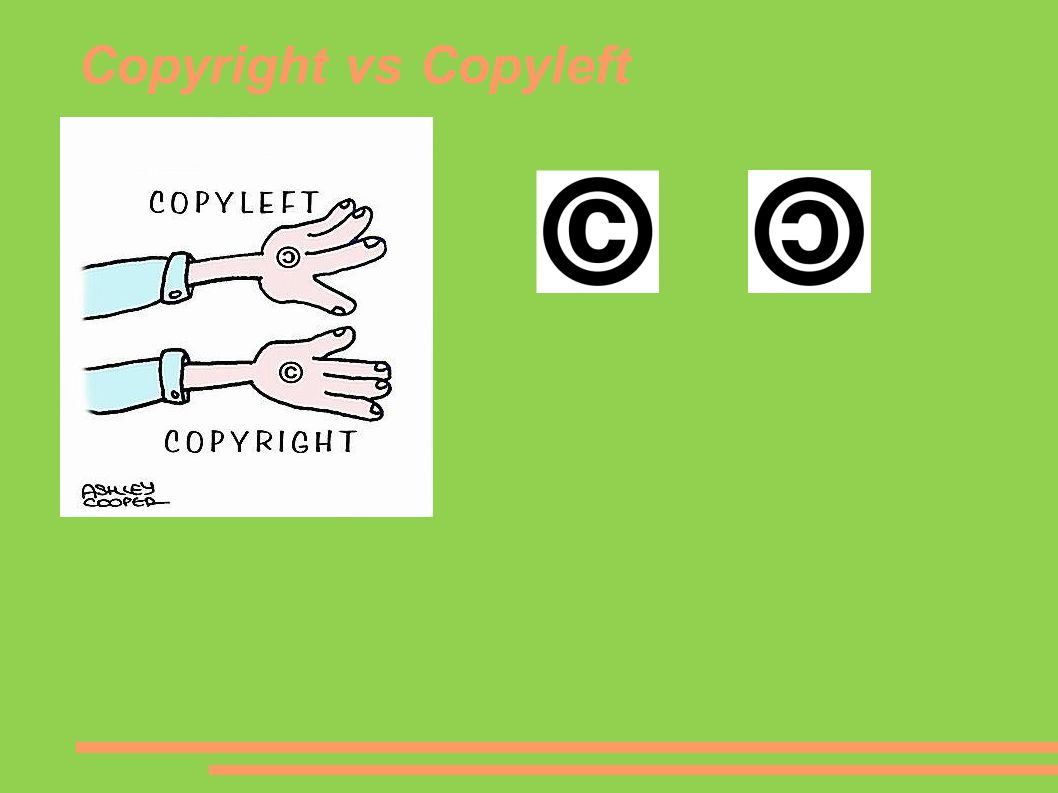 Copyright vs Copyleft