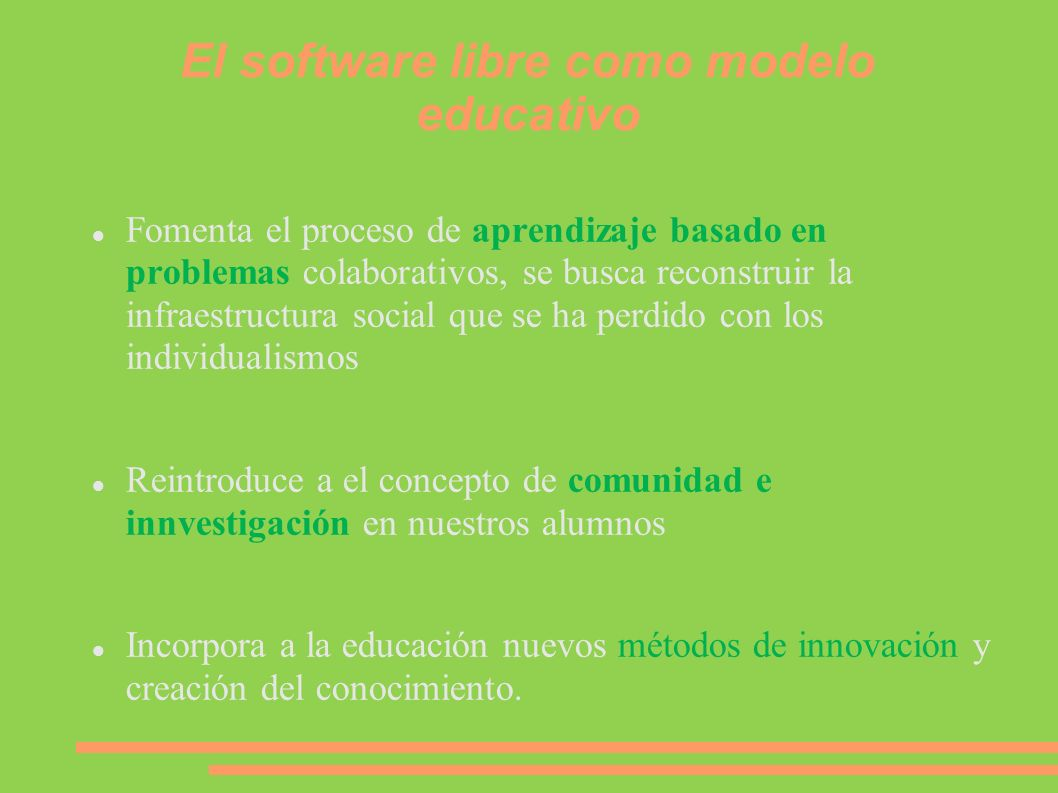 El software libre como modelo educativo