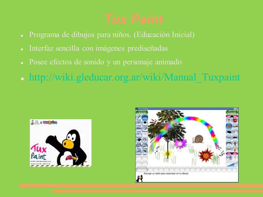 Tux Paint http://wiki.gleducar.org.ar/wiki/Manual_Tuxpaint