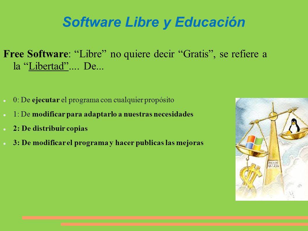 Software Libre y Educación