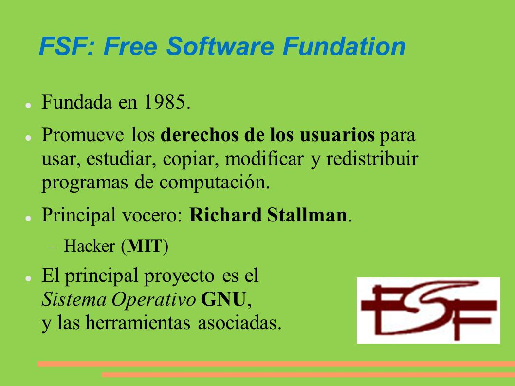 FSF: Free Software Fundation