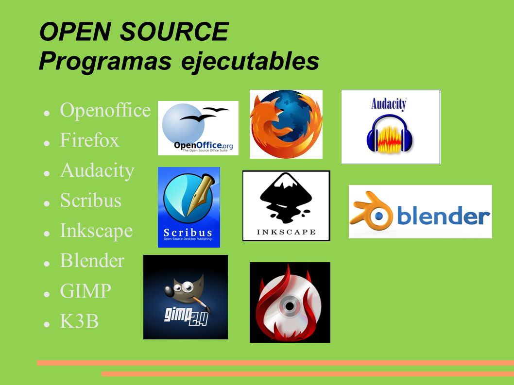 OPEN SOURCE Programas ejecutables