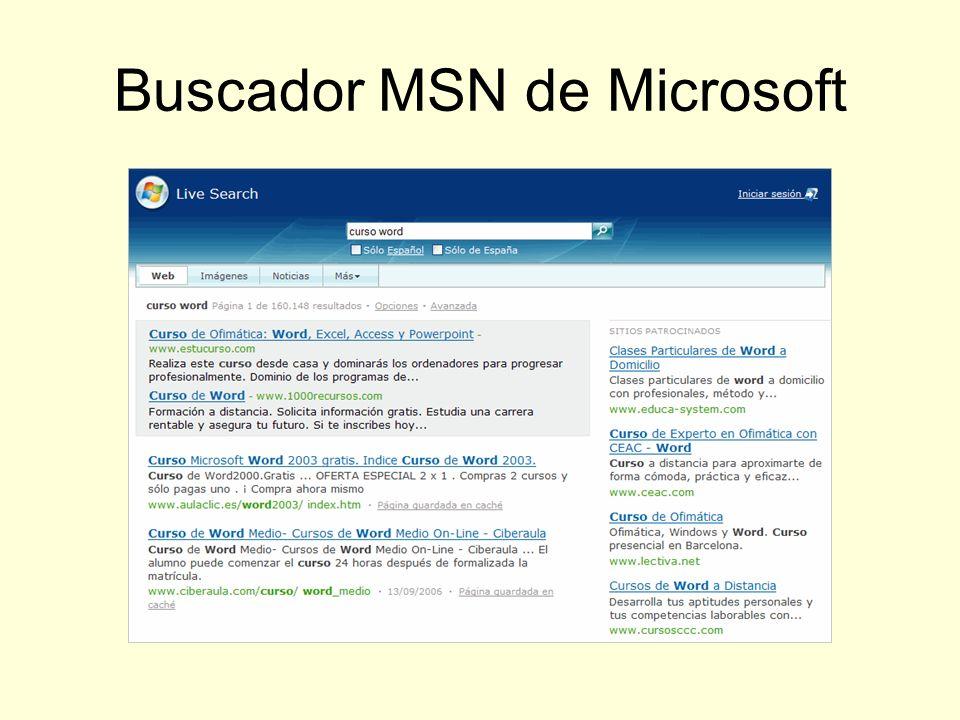 Buscador MSN de Microsoft