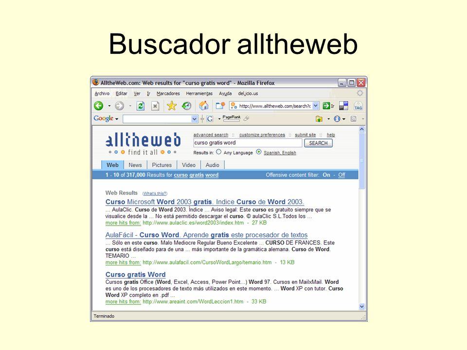 Buscador alltheweb
