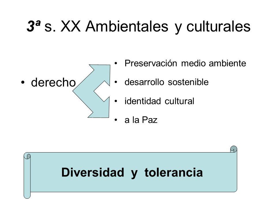 3ª s. XX Ambientales y culturales