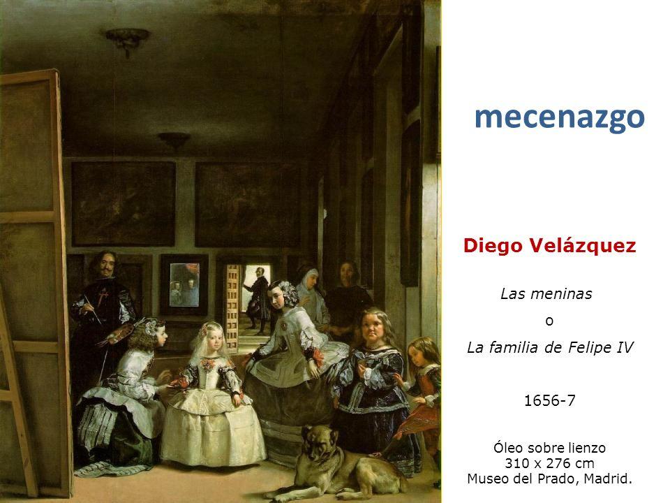 mecenazgo Diego Velázquez Las meninas o La familia de Felipe IV 1656-7