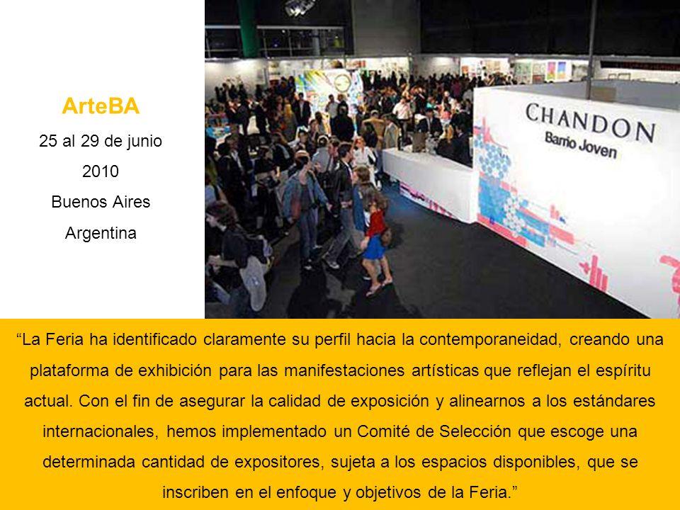 ArteBA 25 al 29 de junio 2010 Buenos Aires Argentina