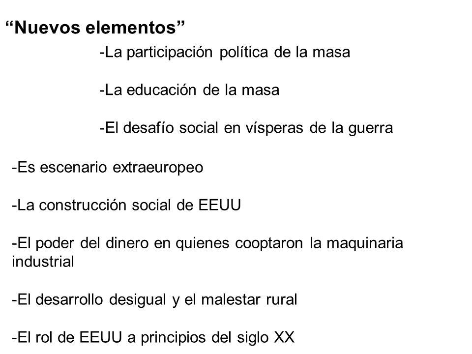 Nuevos elementos La participación política de la masa
