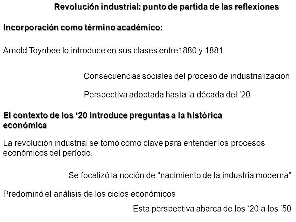 Revolución industrial: punto de partida de las reflexiones