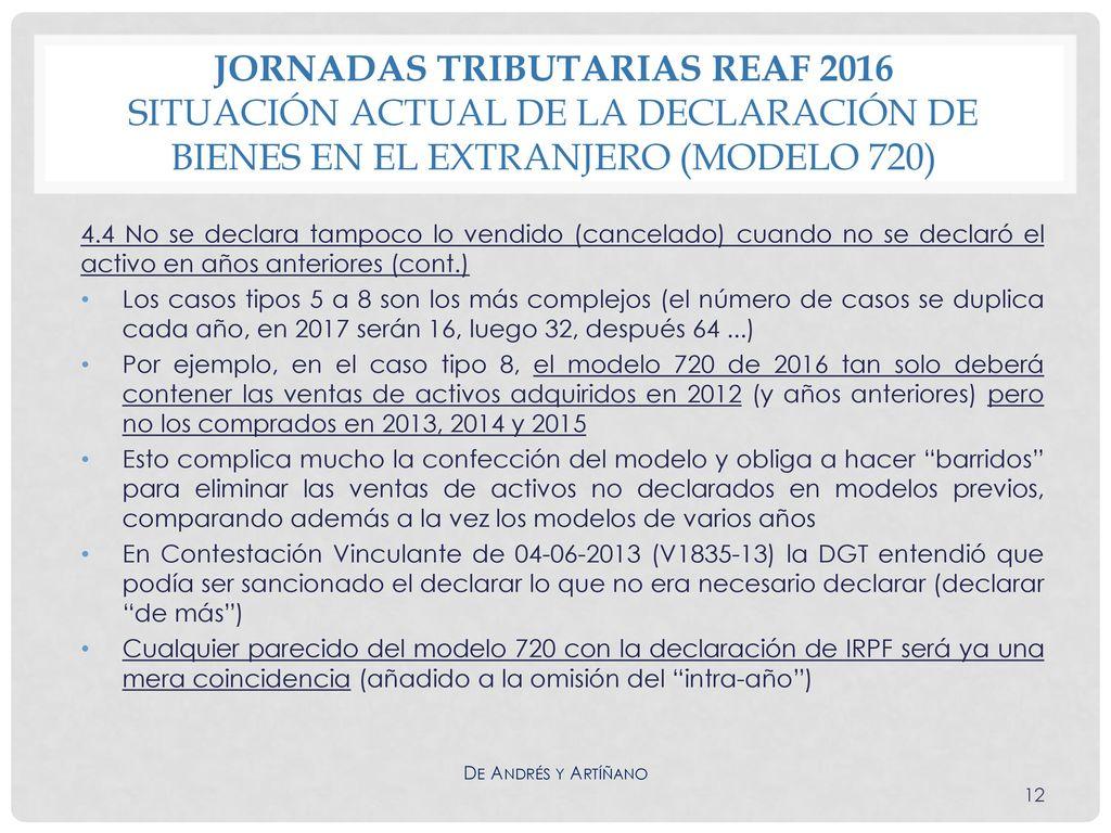 Jornadas Tributarias Reaf 2016 Situaci N Actual De La Declaraci N De Bienes En El Extranjero