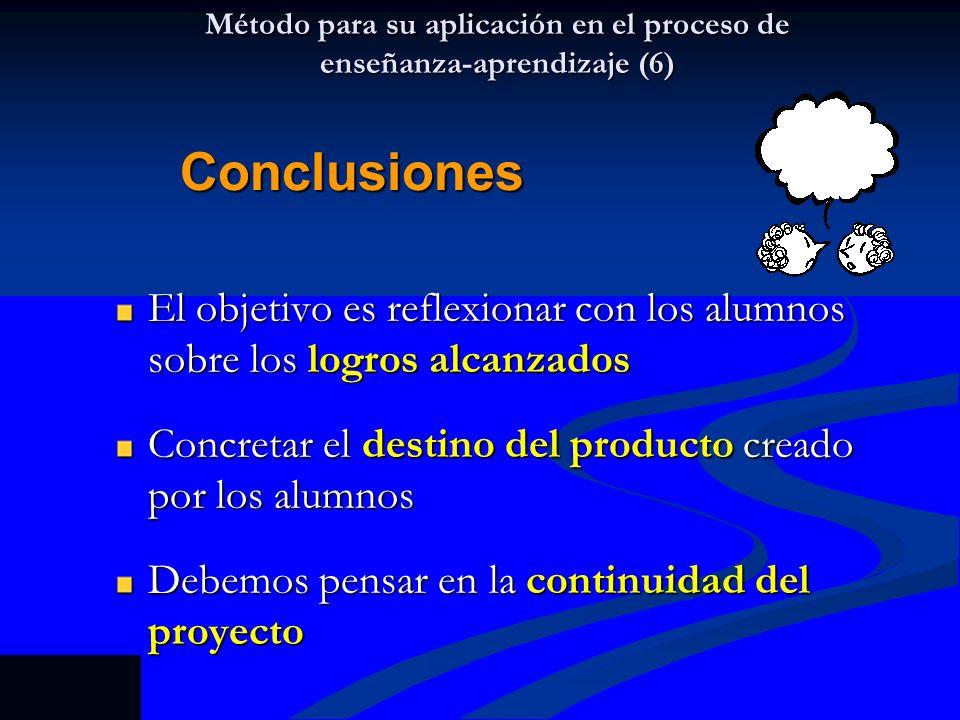 Método para su aplicación en el proceso de enseñanza-aprendizaje (6)
