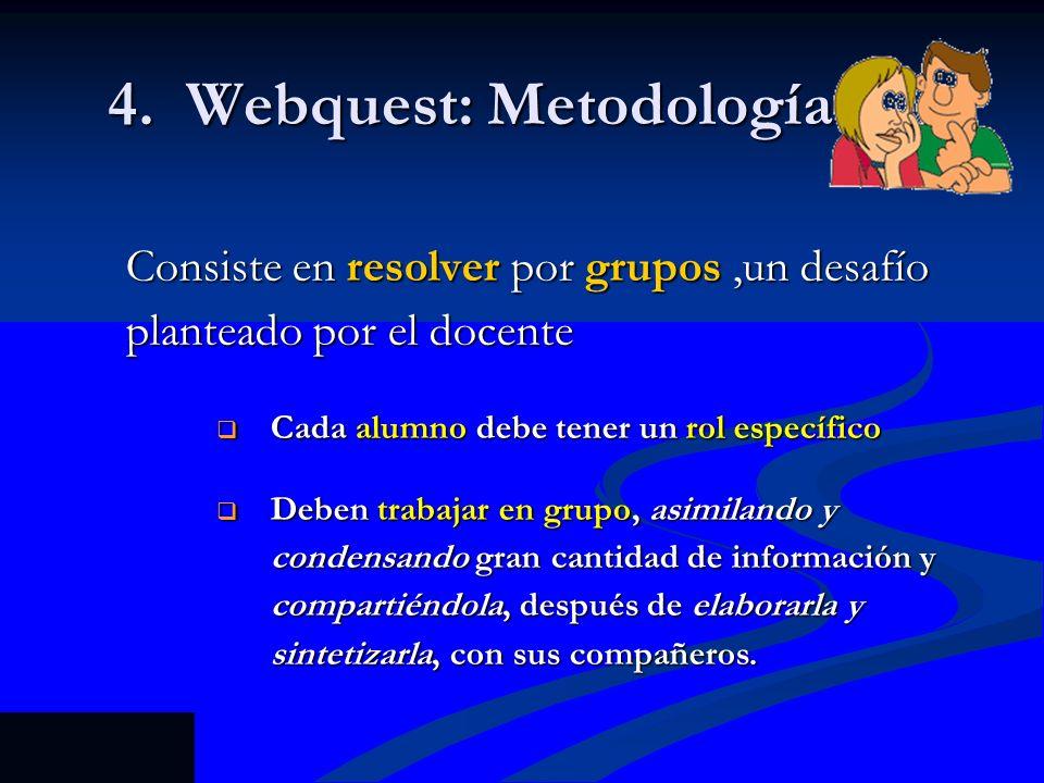 4. Webquest: Metodología