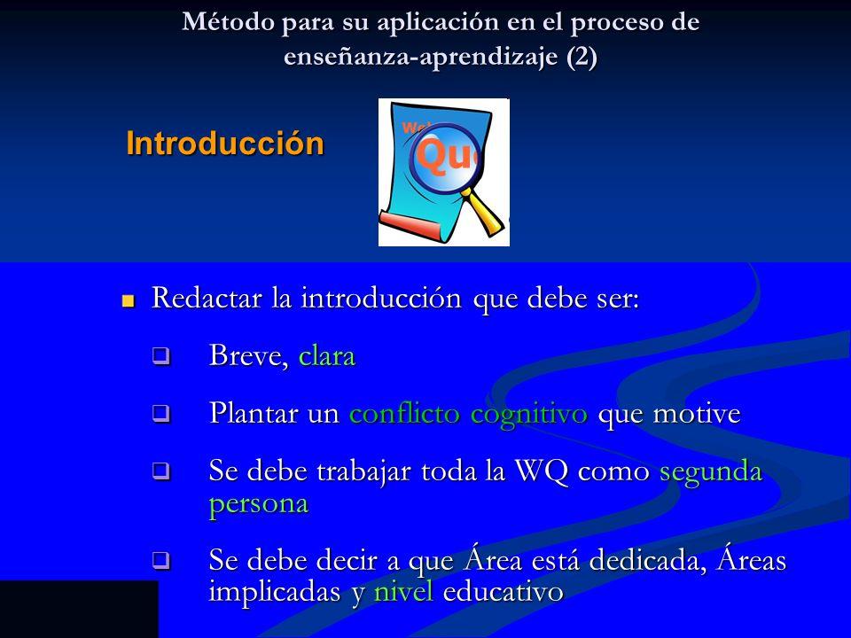 Método para su aplicación en el proceso de enseñanza-aprendizaje (2)