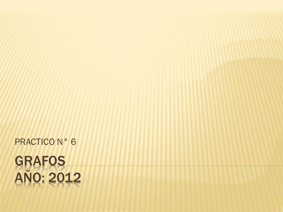 PRACTICO N° 6 GRAFOS año: 2012