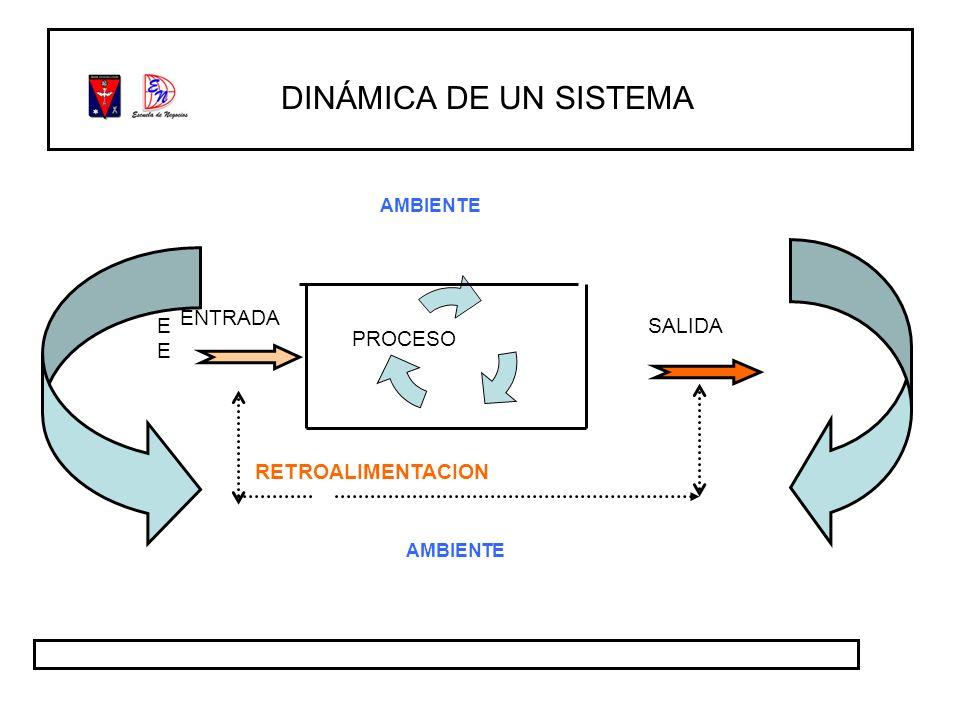 DINÁMICA DE UN SISTEMA ENTRADA EE SALIDA RETROALIMENTACION AMBIENTE