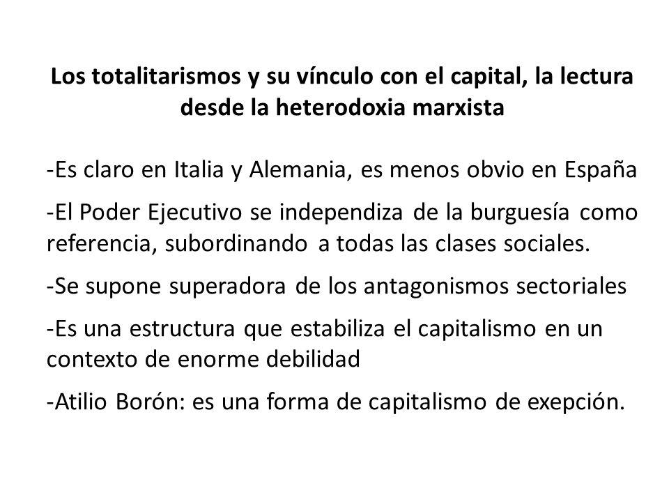Los totalitarismos y su vínculo con el capital, la lectura desde la heterodoxia marxista