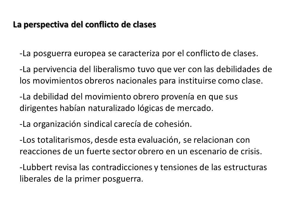 La perspectiva del conflicto de clases