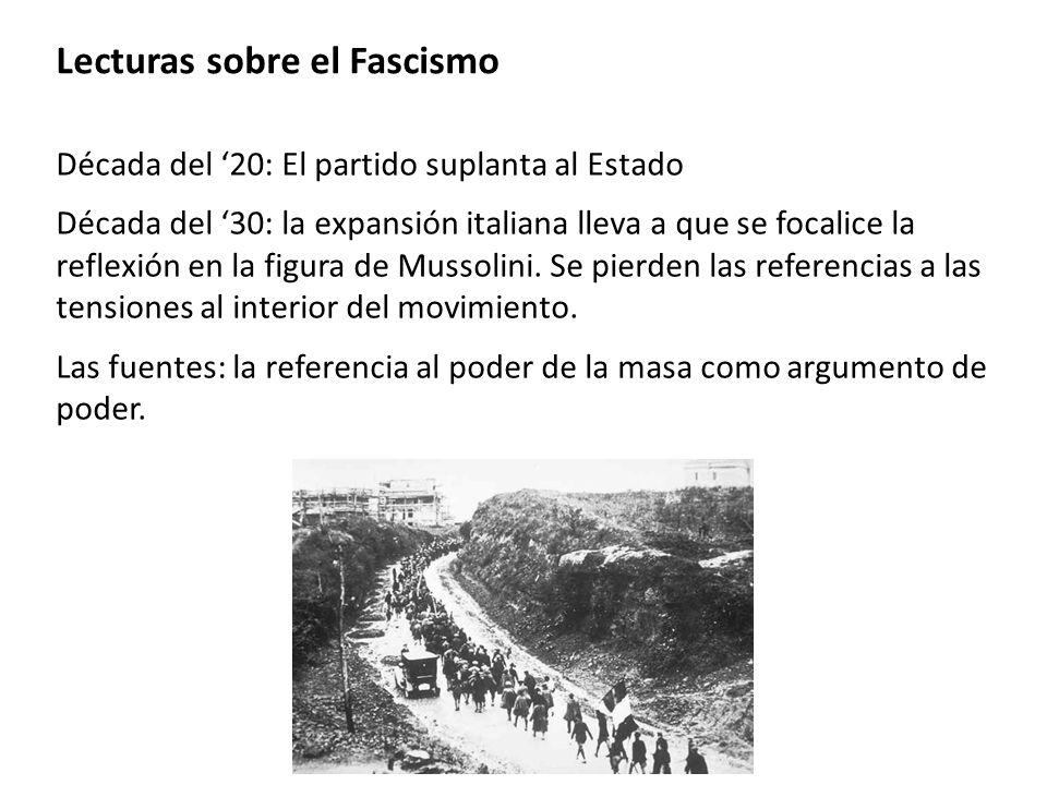 Lecturas sobre el Fascismo