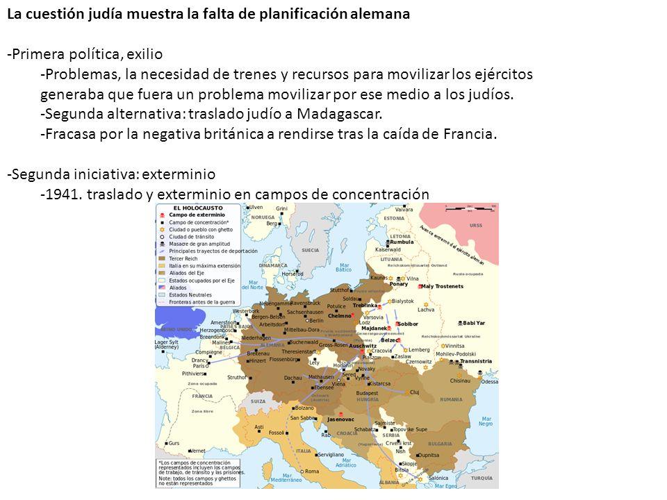La cuestión judía muestra la falta de planificación alemana