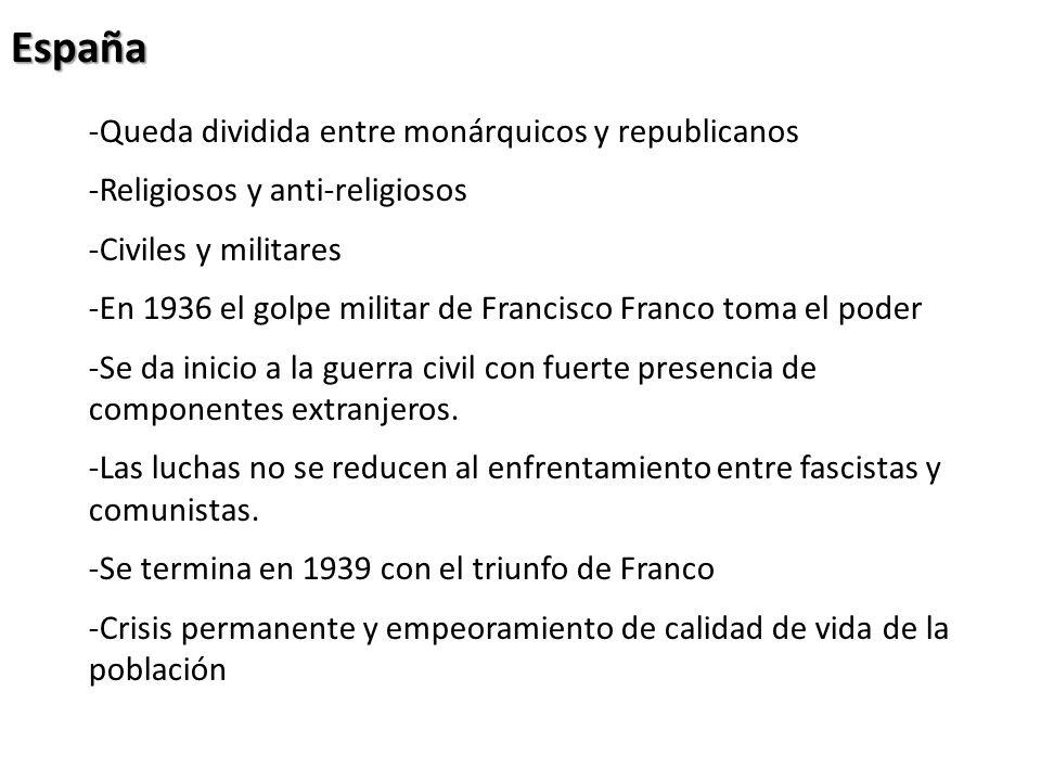 España Queda dividida entre monárquicos y republicanos