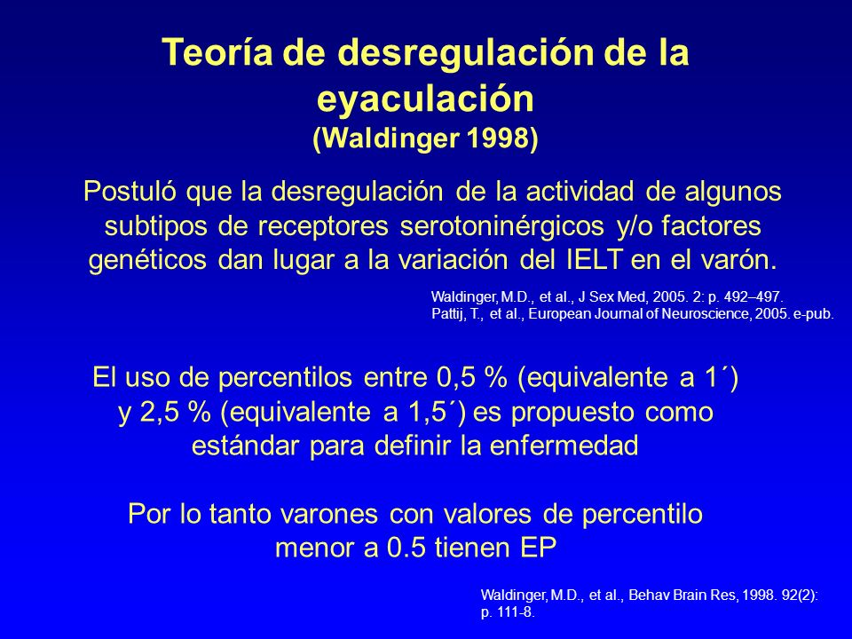 Teoría de desregulación de la eyaculación