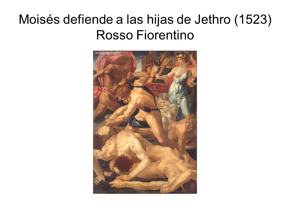 Moisés defiende a las hijas de Jethro (1523) Rosso Fiorentino