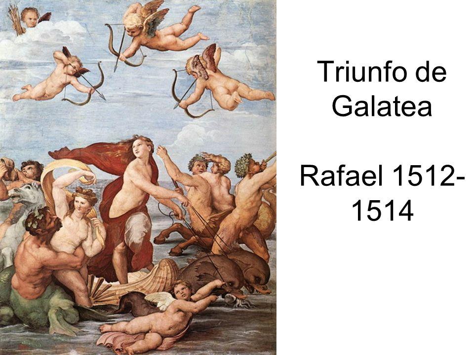 Triunfo de Galatea Rafael 1512-1514