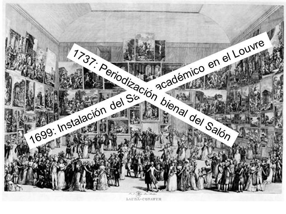 1699: Instalación del Salón académico en el Louvre