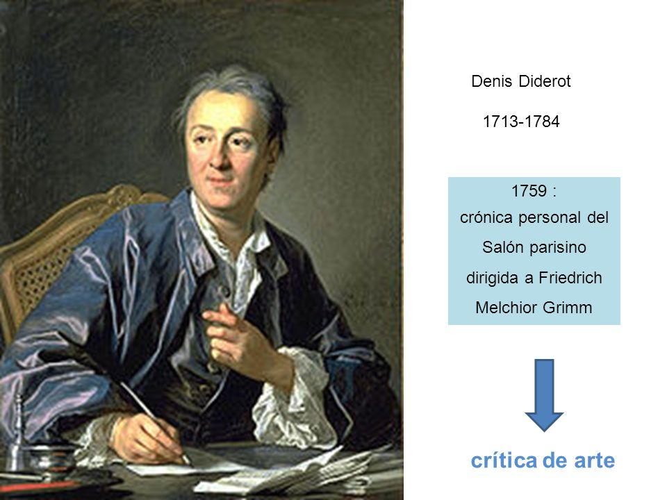 crítica de arte Denis Diderot 1713-1784 1759 :
