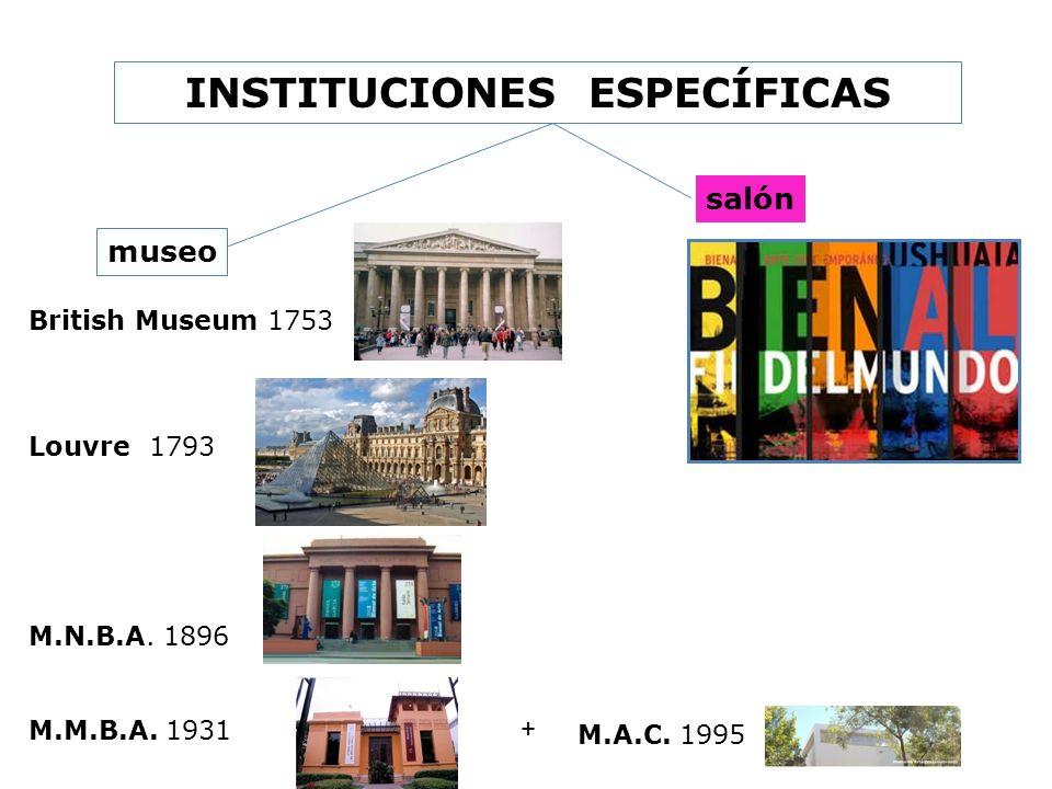 INSTITUCIONES ESPECÍFICAS