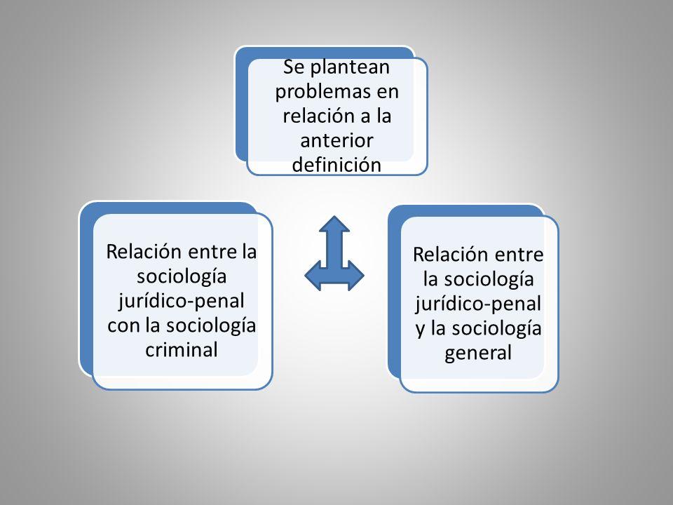 Relación entre la sociología jurídico-penal con la sociología criminal