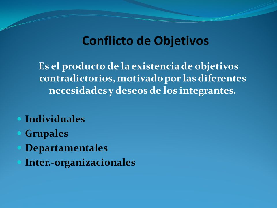 Conflicto de Objetivos
