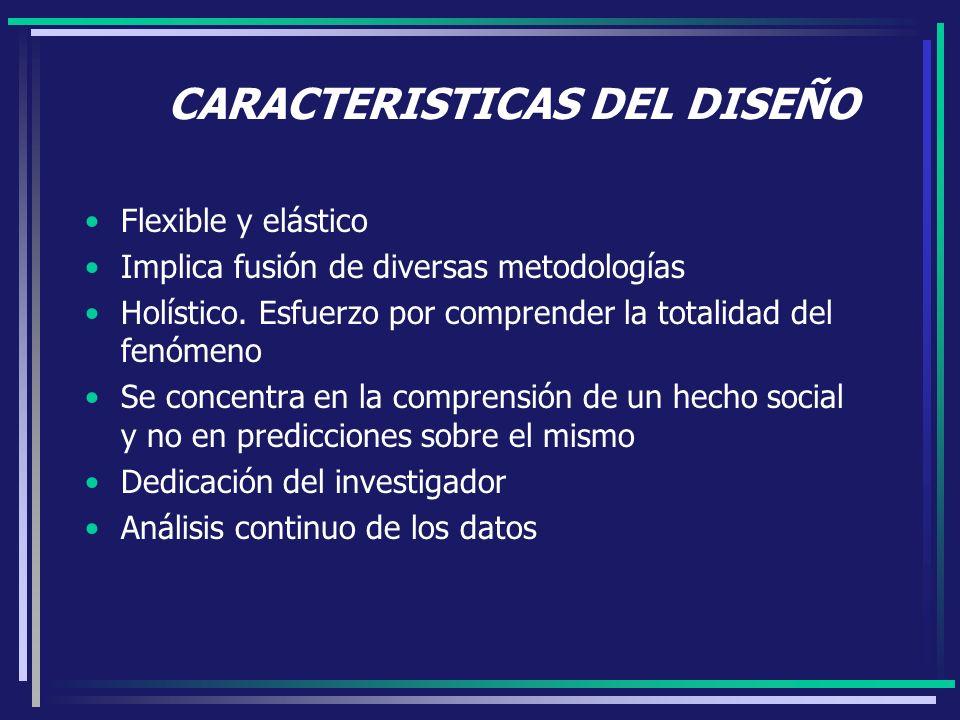 CARACTERISTICAS DEL DISEÑO