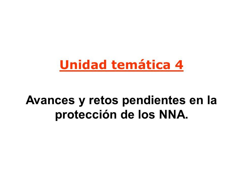 Avances y retos pendientes en la protección de los NNA.