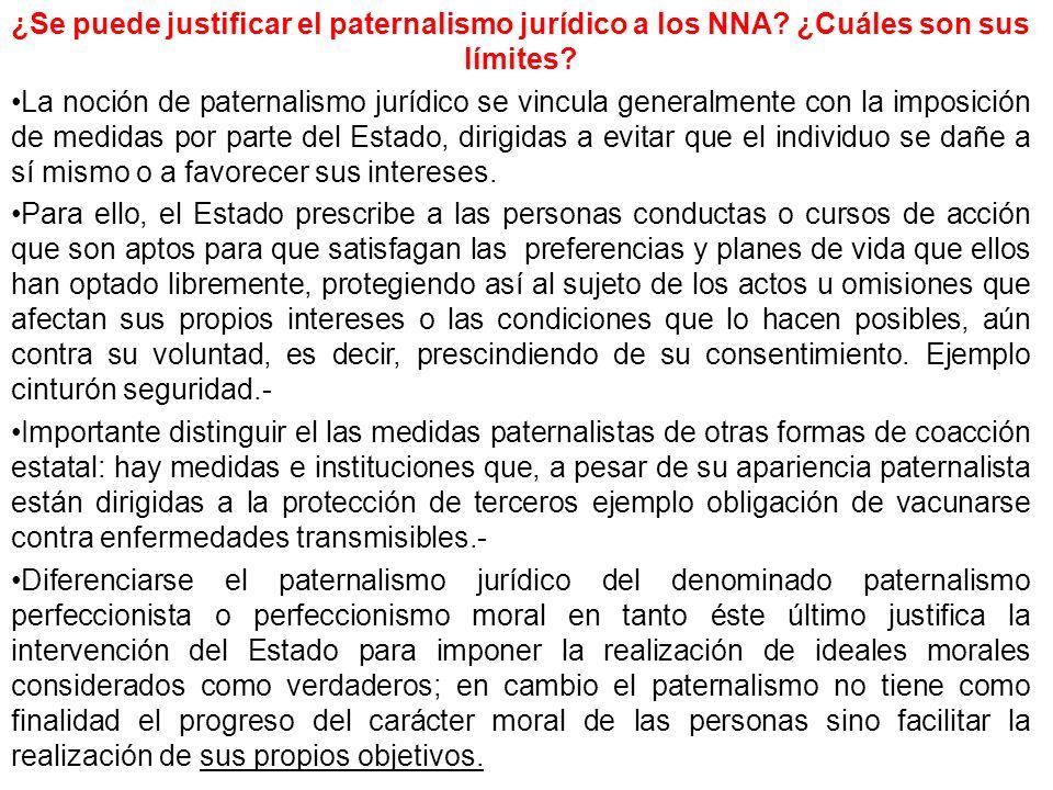 ¿Se puede justificar el paternalismo jurídico a los NNA