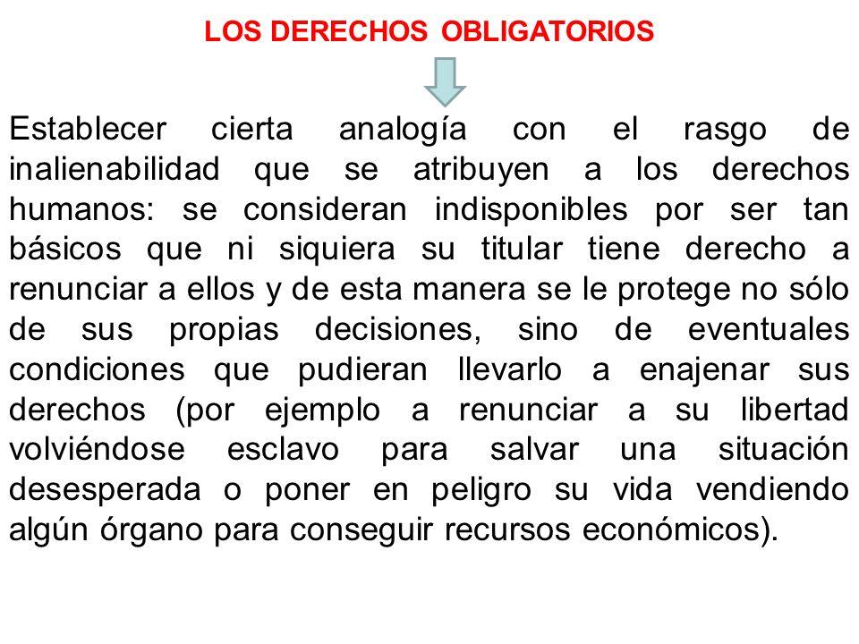 LOS DERECHOS OBLIGATORIOS