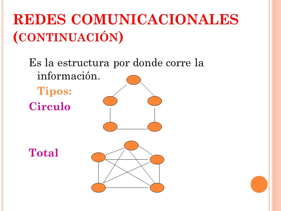 REDES COMUNICACIONALES (continuación)