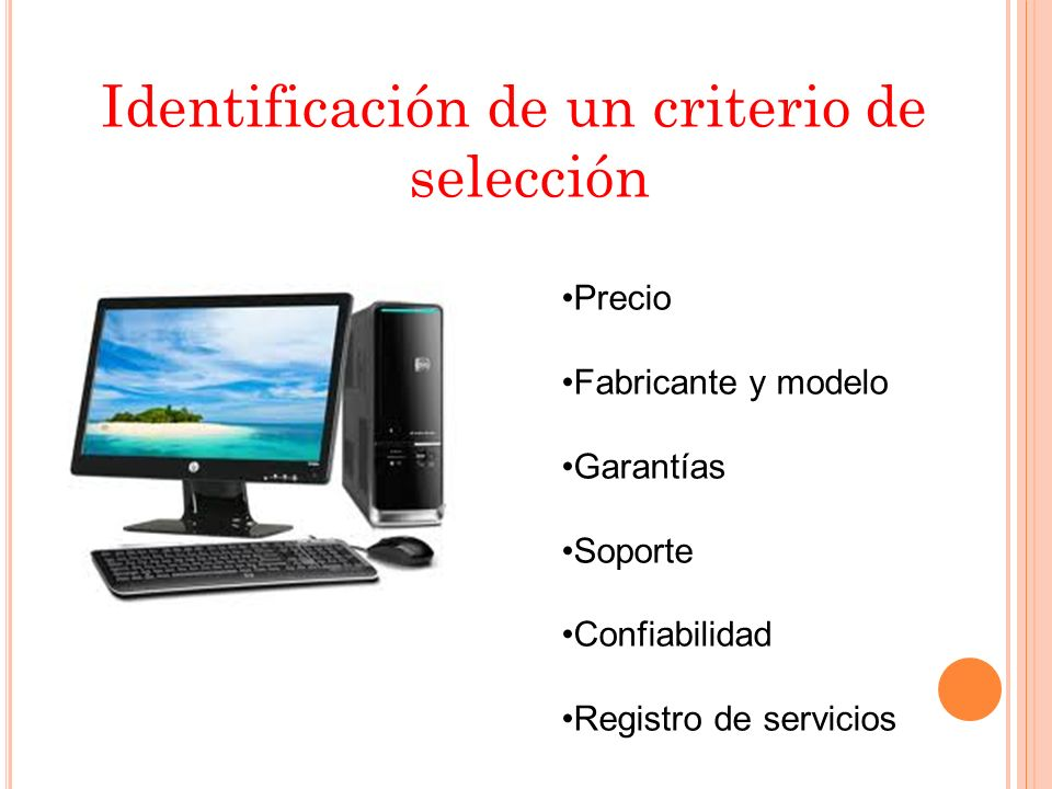Identificación de un criterio de selección