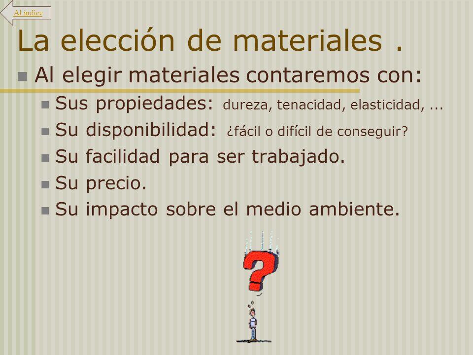 La elección de materiales .