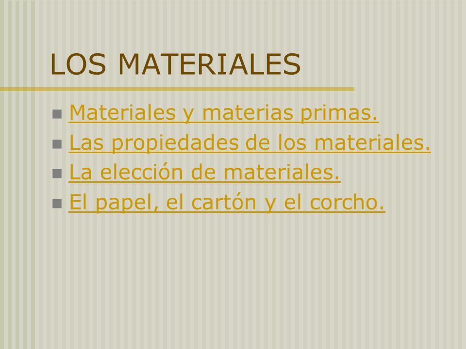 LOS MATERIALES Materiales y materias primas.