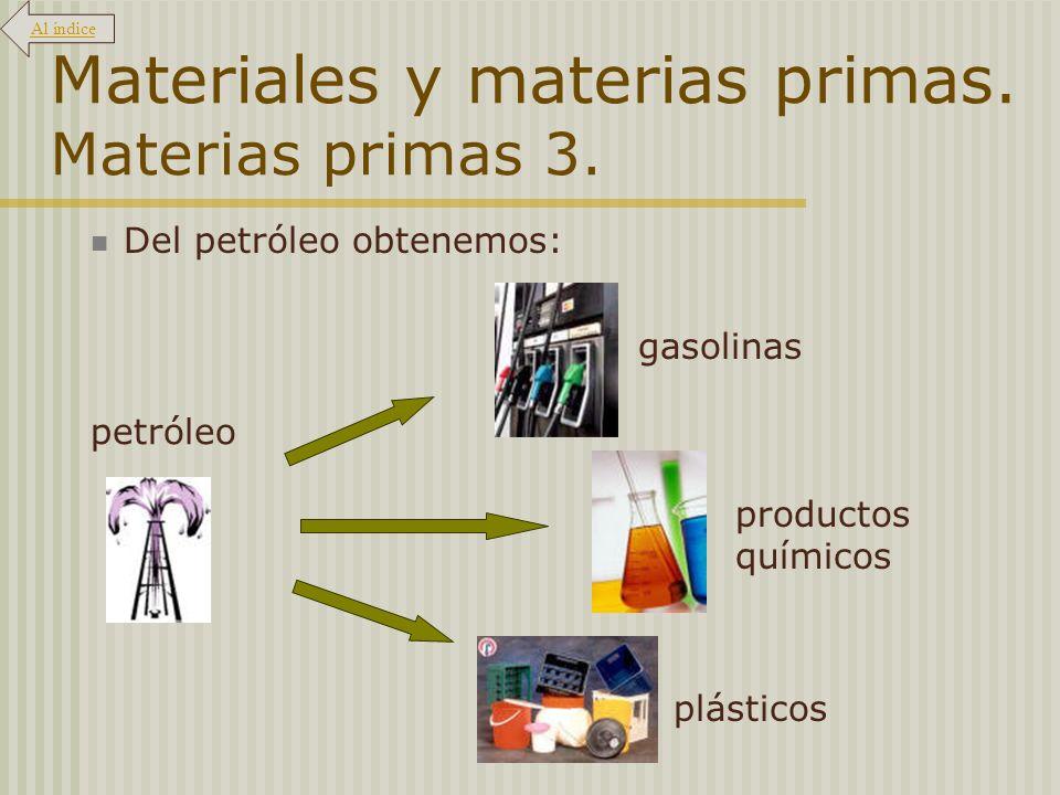 Materiales y materias primas. Materias primas 3.