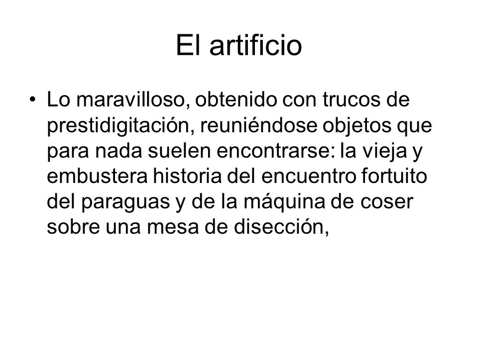 El artificio